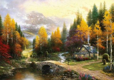 Осенние пейзажи Thomas Kinkade