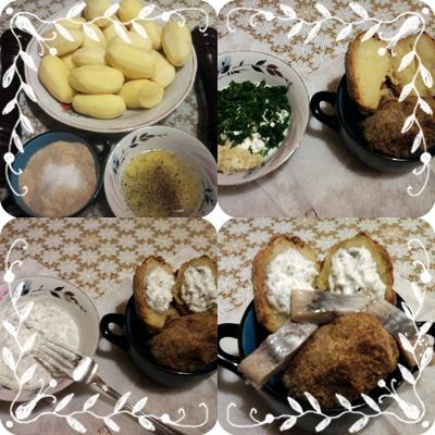 Картошка в шубке (два варианта приготовления). Фото-рецепт и фото-отчет.