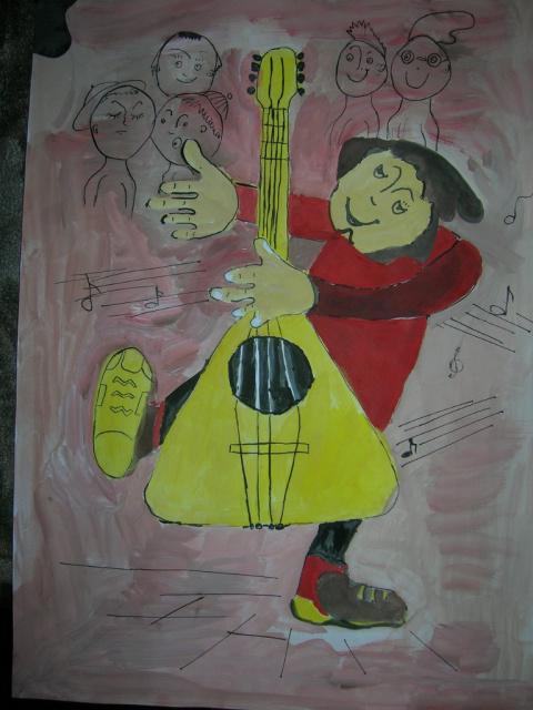 Весёлый музыкант. Автор Беседин Артём