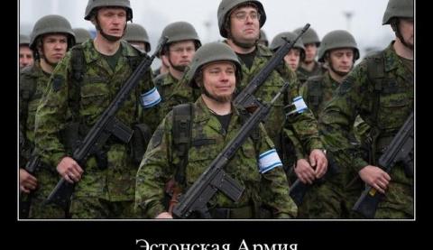 Эстонских солдат выгнали в п…