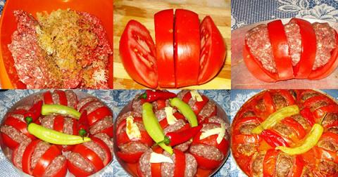 Посидим, поедим... Запеченные помидоры с фаршем по-арабски