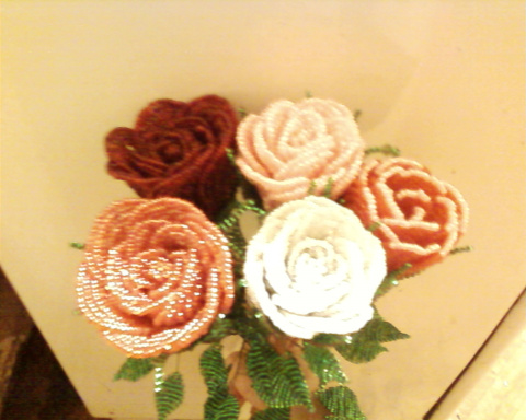 роза бисером