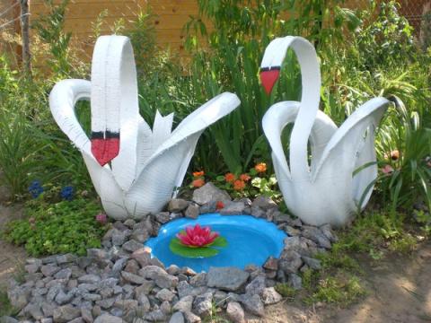 Как сделать Лебедя из Шины своими руками