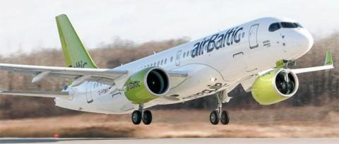 Авиакомпания AirBaltic перво…