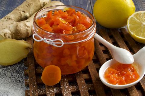 Варенье из моркови с имбирем и лимоном