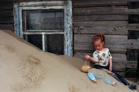 Русское село, заживо погребе…