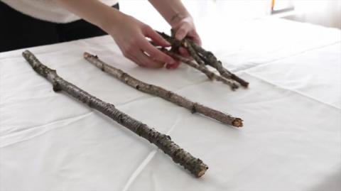 Новогоднее чудо из простых деревянных палочек