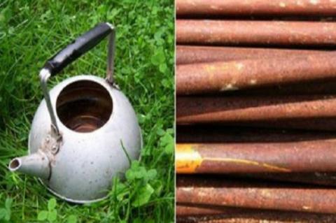 Превращаем старый чайник и трубы в дачный шедевр