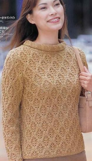 Пуловер с узором