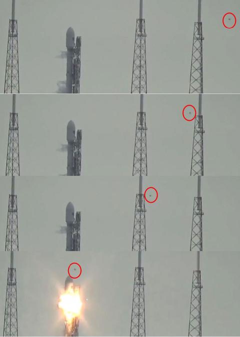 Ракету Falcon 9 взорвала шар…