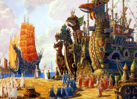 """Пирамиды Египта строили люди, """"прибывшие с островов северной страны Дуат-н-Ба"""""""