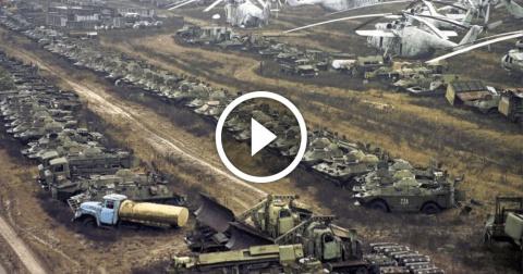 Вся Чернобыльская заражённая техника внезапно пропала…
