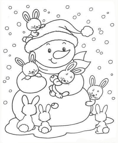 Веселые снеговики: шаблоны и…