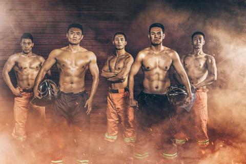 Китайские пожарные снялись в…