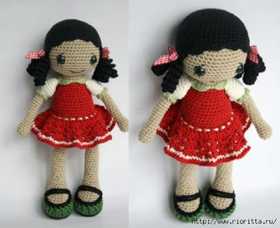 Вязаная кукла Анита
