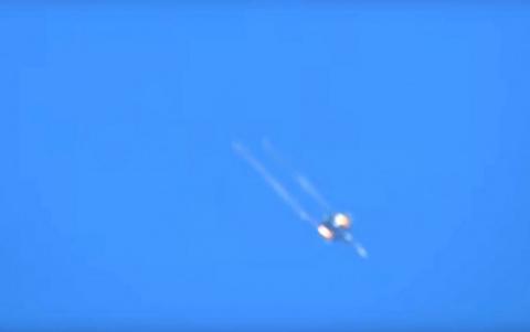 Российский Су-35С разнёс боевиков в Хаме