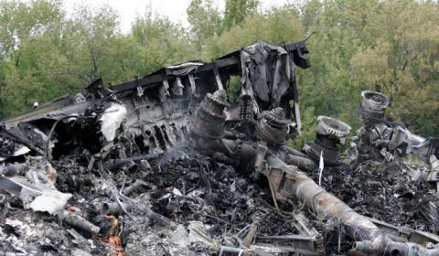 Останки жертв катастрофы МН1…