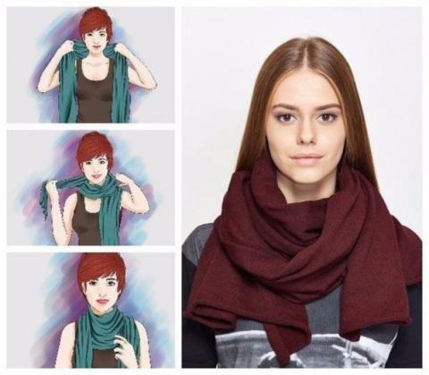 Правильные способы завязывания шарфов