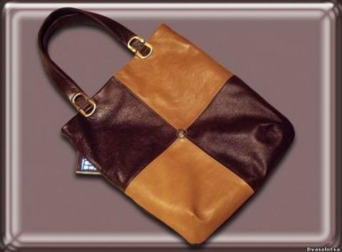 Шьем сумку из кожи