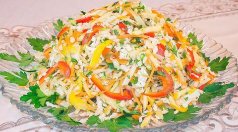 Постный салат с пекинской ка…