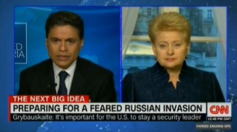 Грибаускайте: США не пожертвует Литвой ради союза с «государством-террористом»