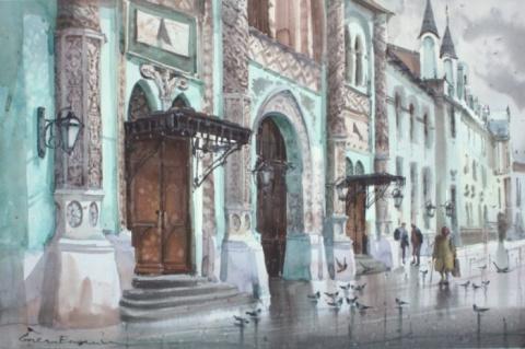 Молдавский художник Eugeniu Gorean. Акварели