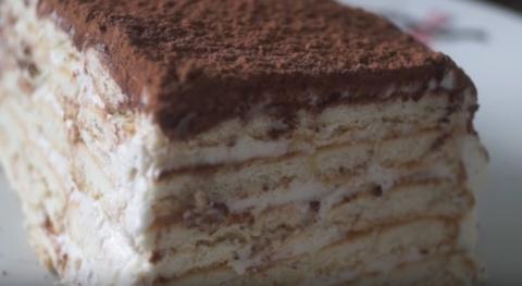 Торт без выпечки на скорую р…