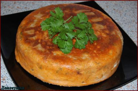 Вкусный пирог из лаваша