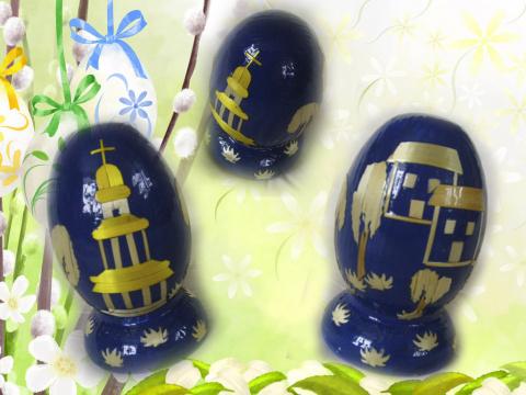 декорирование яиц соломой