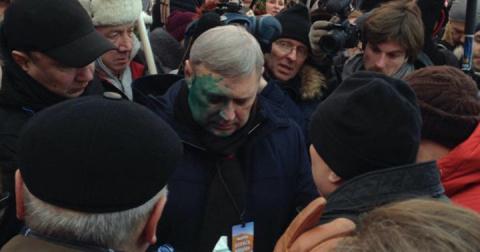 На акции памяти Немцова в Мо…