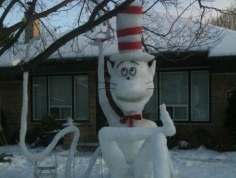 Смешные и необычные снеговик…