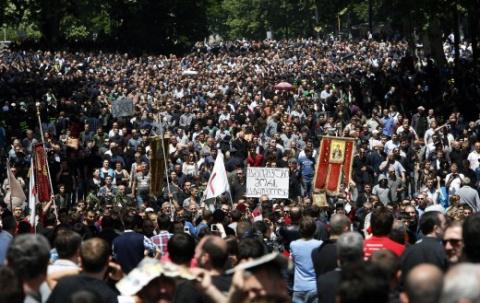 В Тбилиси 10-тысячная демонстрация протестовала против гей-парада