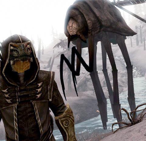 Создатели The Elder Scrolls: Skywind показали, как выглядит гигантский Силт Страйдер