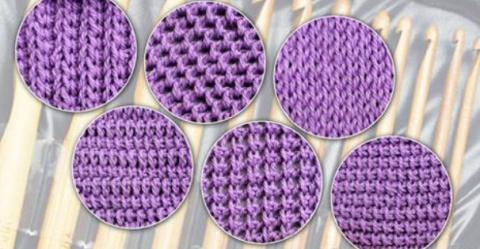 Тунисское вязание: 6 узоров …