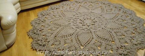 Вязаные ковры крючком из шну…