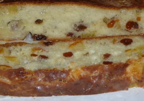 Сливочный пирог с цукатами. …