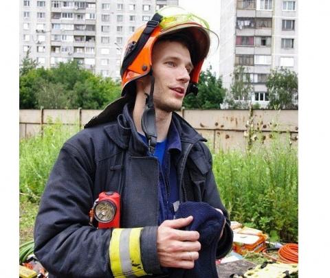 Пожарный Пётр Станкевич поже…