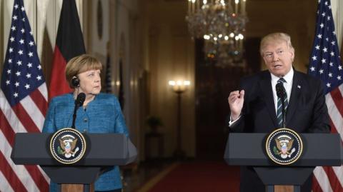 Меркель приехала на ковёр к Трампу. Шеф остался недоволен.