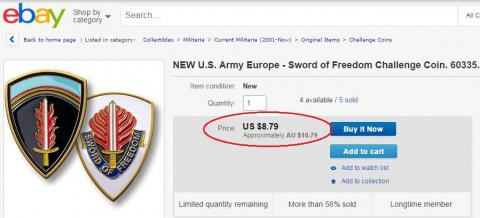 СМИ: Значки, которыми американский генерал наградил искалеченных украинских солдат, стоят $9