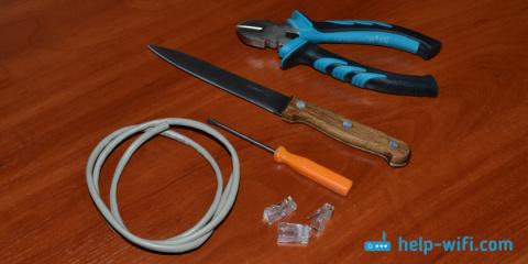 Как обжать сетевой кабель без инструмента