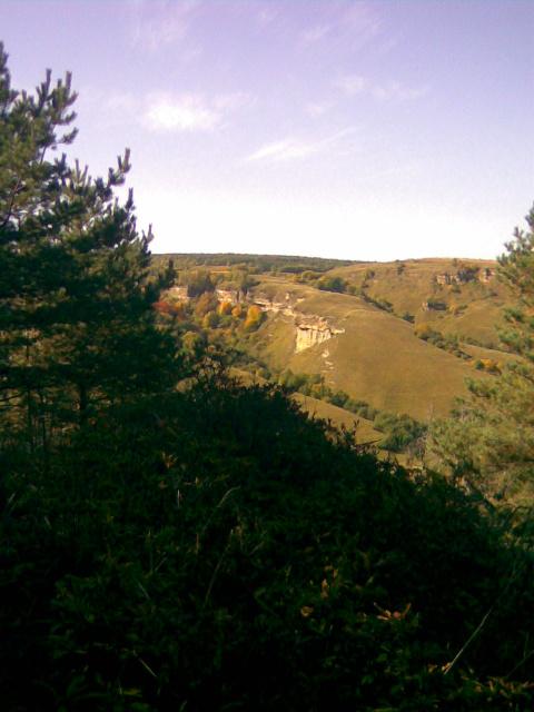 Вид на отроги Джинальского плато.