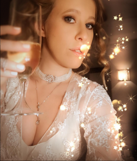 Ксения Собчак: знойное новогоднее-2017 #сэлфиссиськами