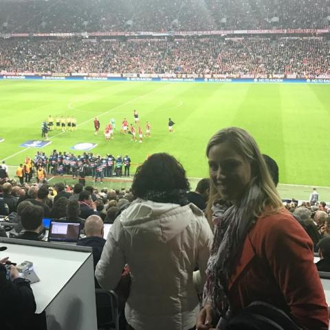 Кербер посетила матч «Бавари…