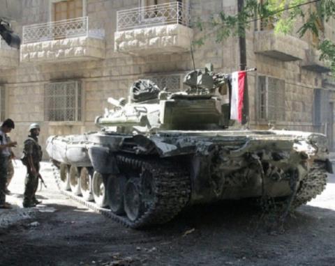 В Сирии российский Т-72 выде…