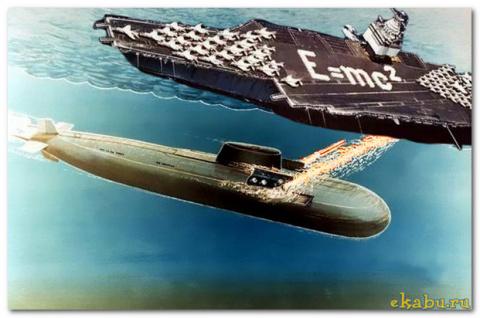 Как наши подводники залпом д…