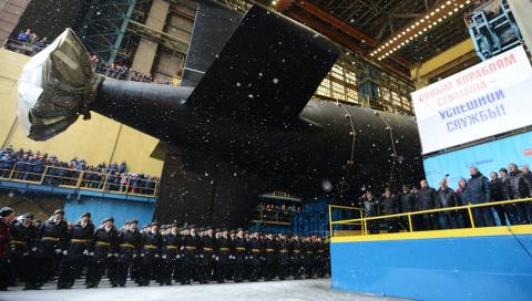 В России спущена на воду атомная подлодка «Казань» (ФОТО, ВИДЕО)