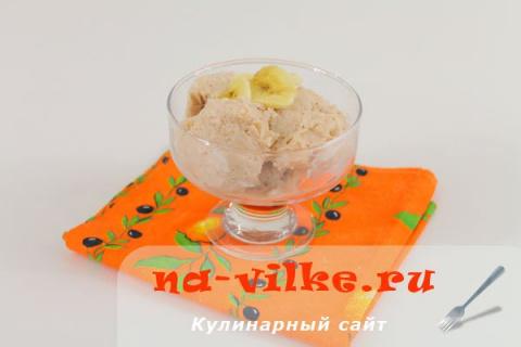 Домашнее мороженое с бананом…
