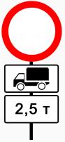 Кто бобедит Сабянин,ГИБДД, МВД или ФСБ - Запрещающие знаки 2.5 тонны