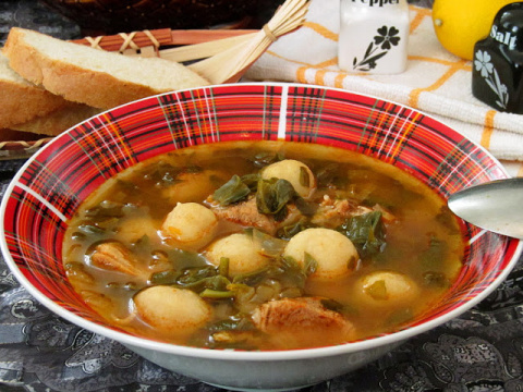 Флол - армянский суп с галушками