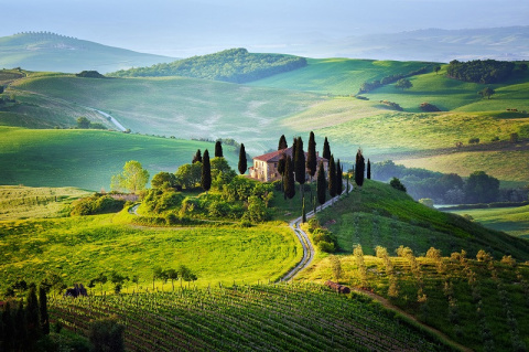 Пейзажи Тосканы, Италия
